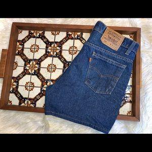 VIntage Levi's Orange Tab High Waist Denim Shorts
